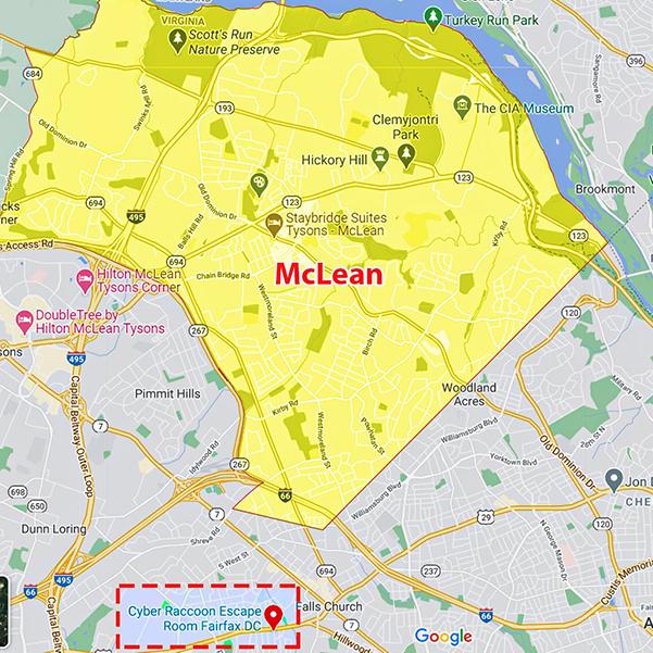McLean, VA map